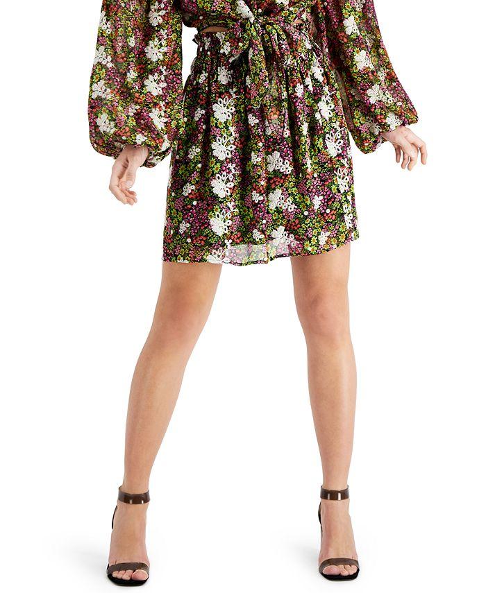 LEYDEN - Smocked Mini Skirt