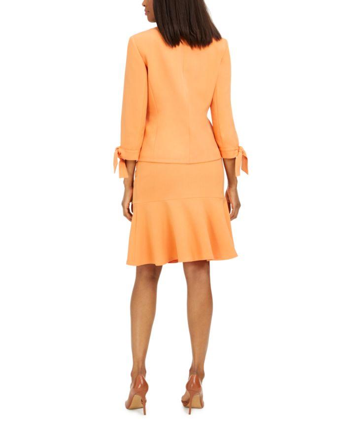 Le Suit Ruffle-Trim Skirt Suit & Reviews - Wear to Work - Women - Macy's