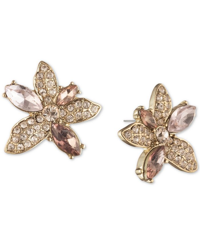 Givenchy - Crystal Flower Button Earrings