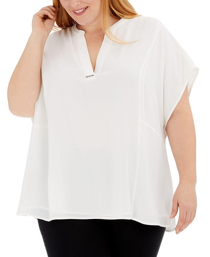 Calvin Klein - Plus Size V-Neck Top
