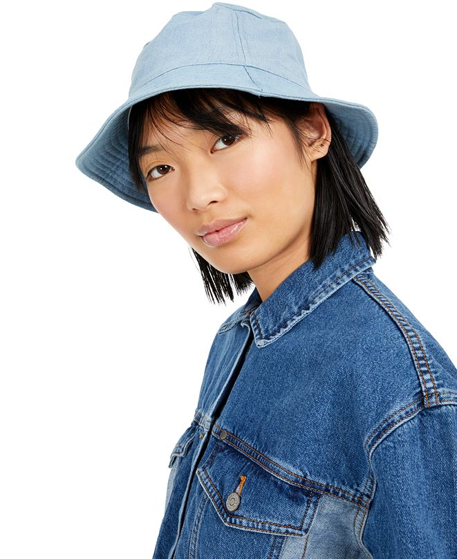 Steve Madden Cotton Denim Bucket Hat