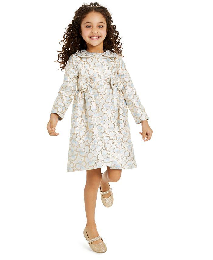 Blueberi Boulevard - Little Girls 2-Pc. Floral Brocade Coat & Dress Set