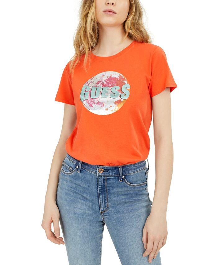 GUESS - Cotton Planet Logo T-Shirt