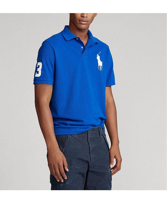 Polo Ralph Lauren Men's Big Pony Custom Slim-Fit Mesh Polo Shirt ...