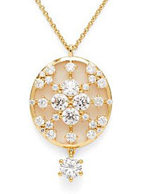 "Eliot Danori Cubic Zirconia Pendant Necklace, 16"" + 4"" extender, Created for Macy's"