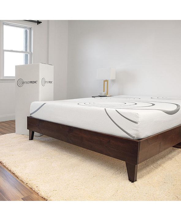 "SensorGel SensorPEDIC 8"" Dual Layer Gel-Infused Memory Foam Firm Mattress - California King"