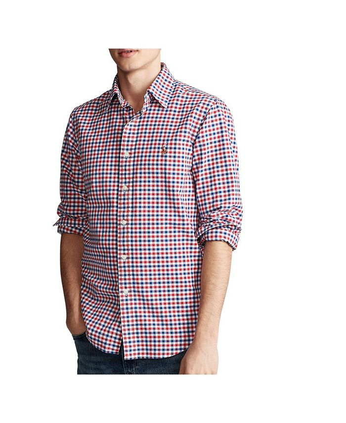 Men's Classic-Fit Checked Oxford Shirt