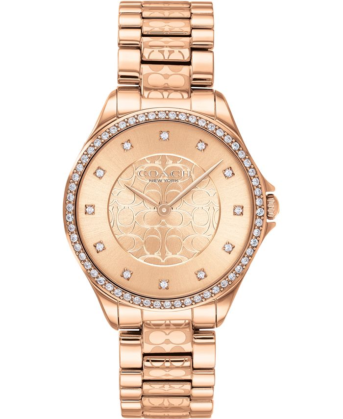 COACH - Women's Astor Rose Gold-Tone Stainless Steel Bracelet Watch 31mm