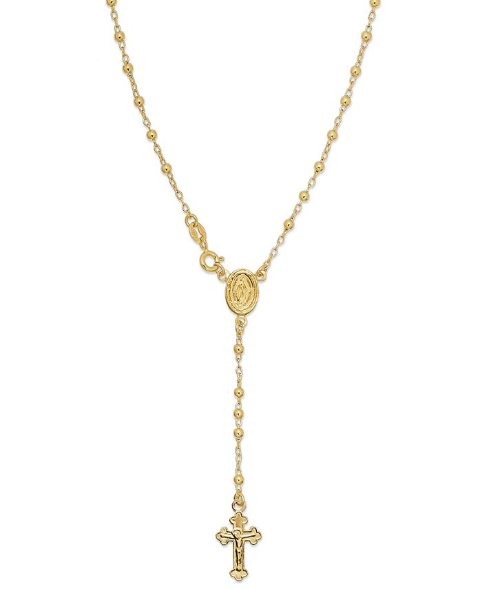 Giani Bernini - 24k Gold over Sterling Silver Necklace, Rosary Necklace