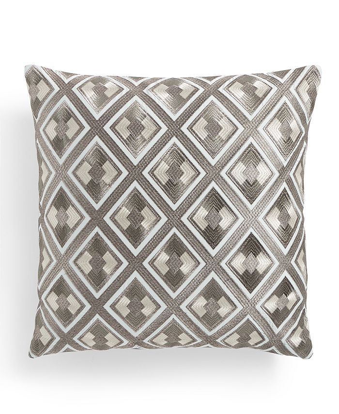 "Hotel Collection - Bedford Geo 20"" x 20"" Decorative Pillow, Created for Macy's"