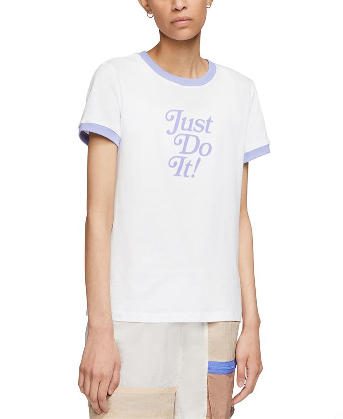 Nike - Sportswear Cotton Just Do It Ringer T-Shirt
