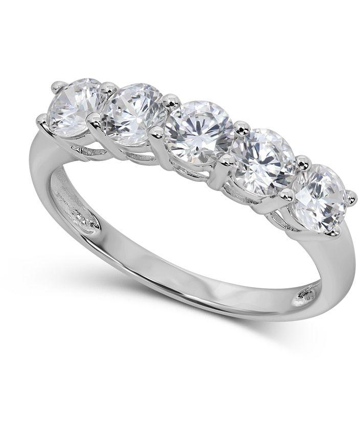 Arabella - Swarovski Cubic Zirconia Ring in 14k White Gold