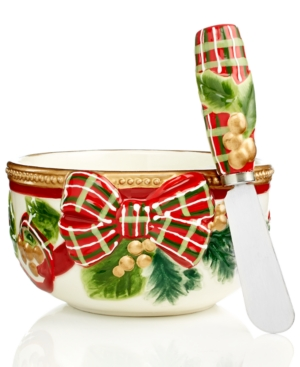 charter club dinnerware, holiday figural dip mix set