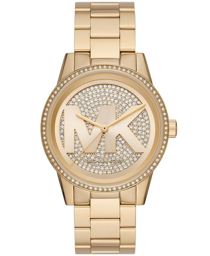 Michael Kors - Ritz Three-Hand Gold-Tone Stainless Steel Watch