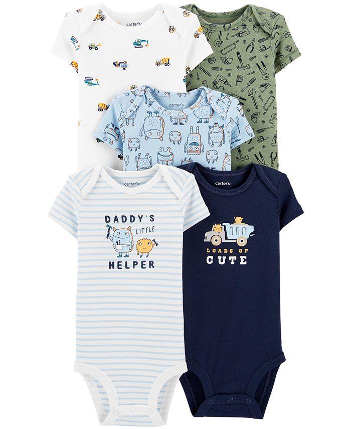 Carter's - Baby Boys Big Helper Printed Cotton Bodysuits