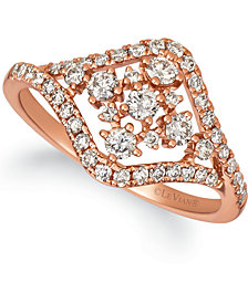 Le Vian® Nude Diamond Statement Ring (5/8 ct. t.w.) in 14k Rose Gold