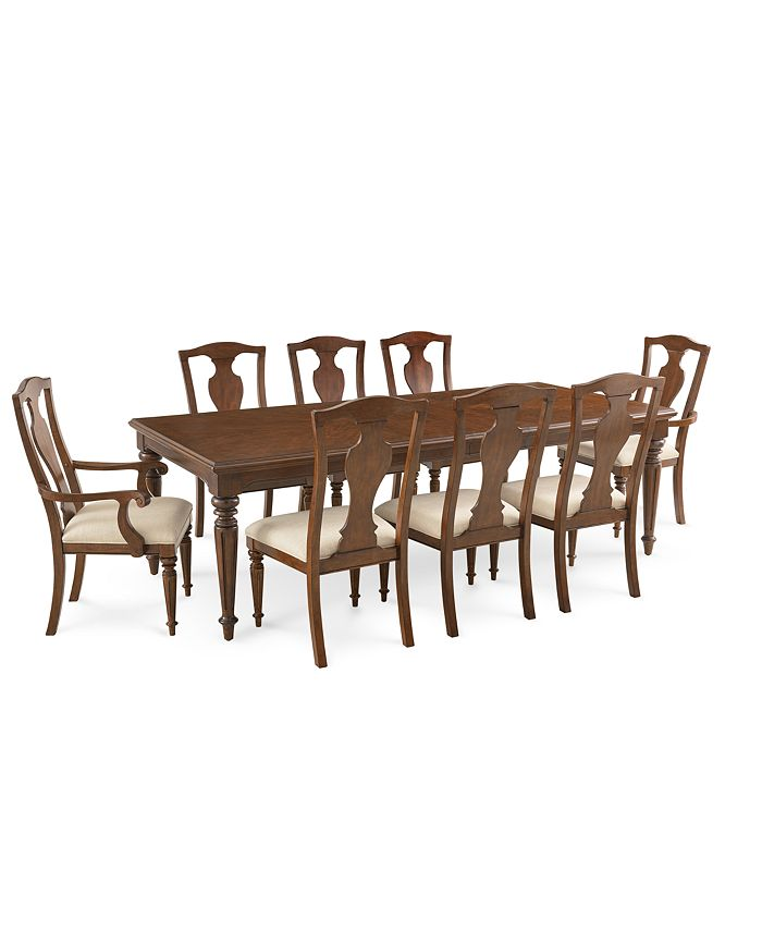 Furniture - Orle Dining , 9 pc Set (Dining Table & 6 Side Chairs & 2 Arm Chairs)