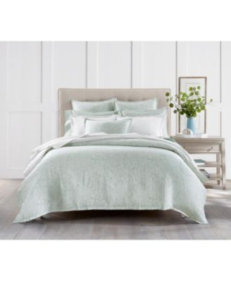 Sleep Luxe Aloe Scroll Cotton 800 Thread Count 3 Pc. Comforter Set, Full/Queen, Created for Macy's