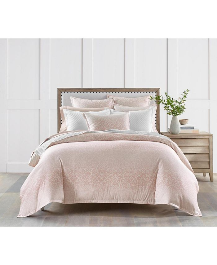 Charter Club - Sleep Luxe Cotton 800-Thread Count 3-Pc. Printed Petal Ombre Twin Comforter Set, Created For Macy's
