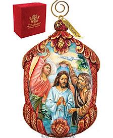 G.DeBrekht Hand Painted Christening Scenic Ornament