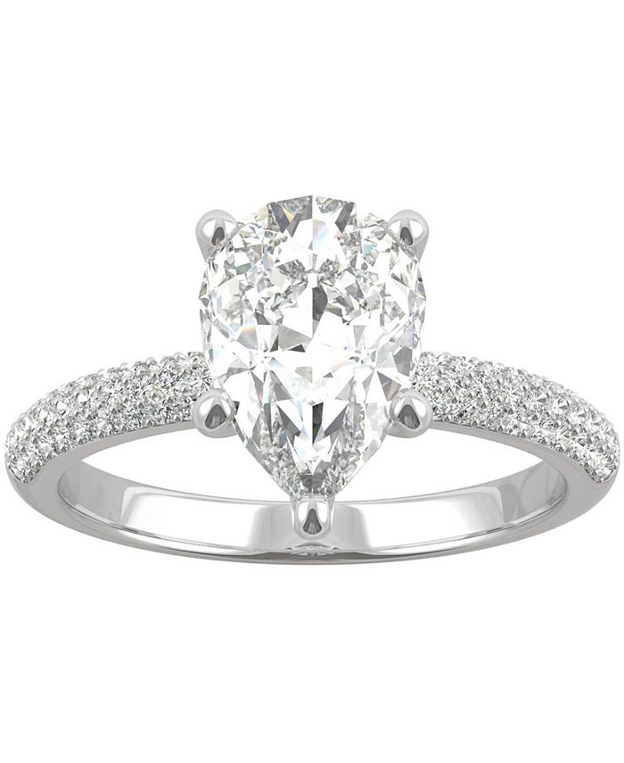 Charles & Colvard - Moissanite Pear Engagement Ring (2-3/8 ct. t.w. DEW) in 14k White Gold