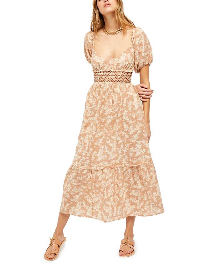 Free People - Ellie Cotton Printed Maxi Dress