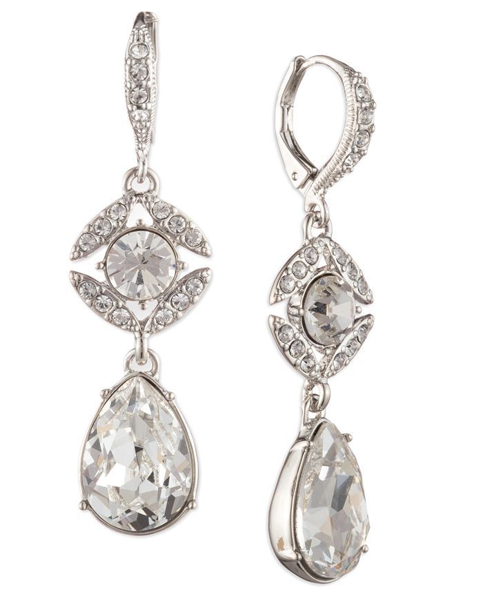 Givenchy - Crystal Double Drop Earrings
