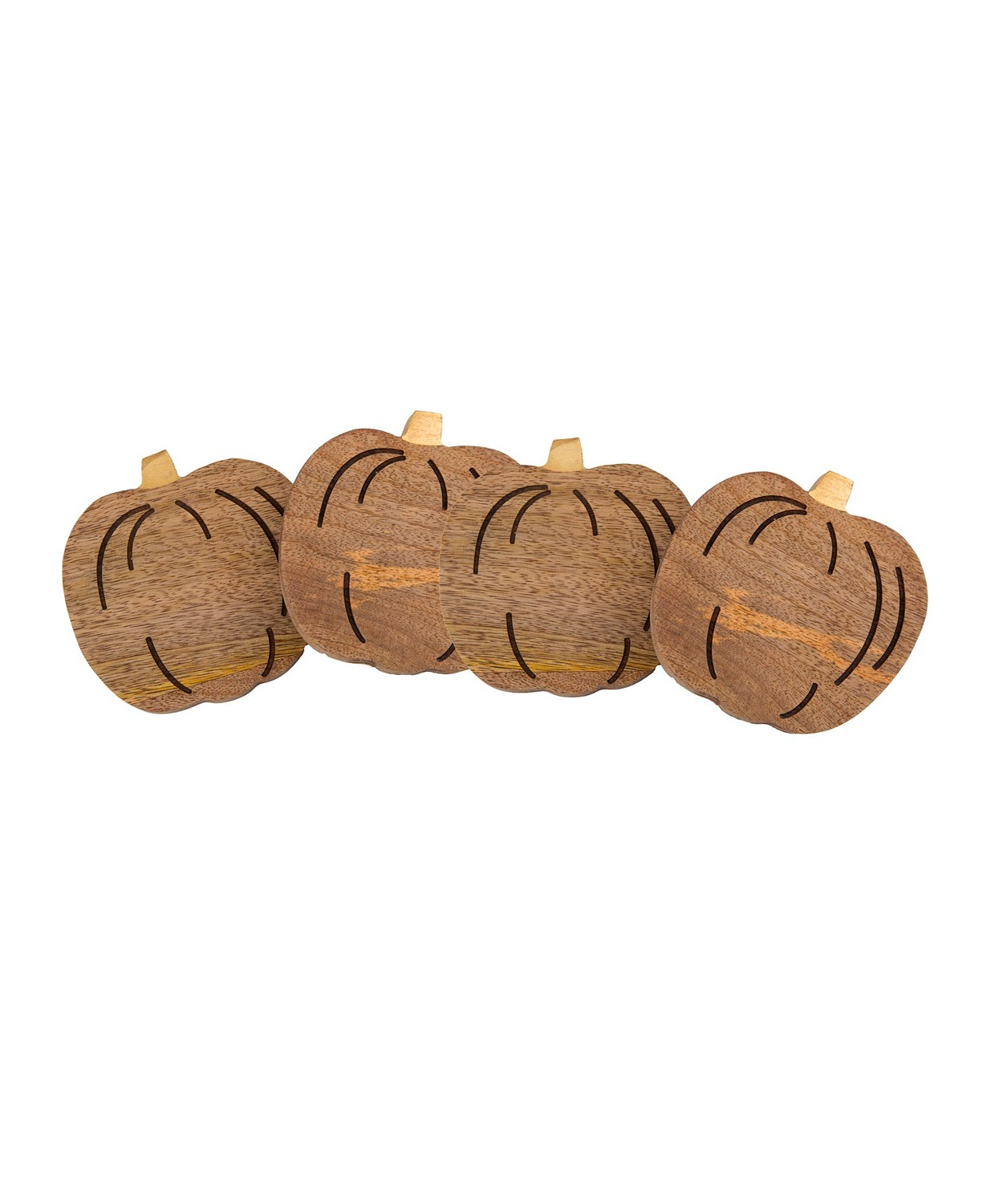 Thirstystone Pumpkin Wood Coasters, Set of 4
