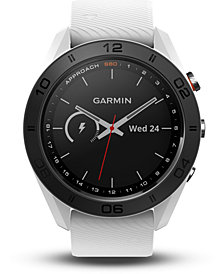 Garmin Unisex Approach S60 White Silicone Strap Touchscreen Smart Watch 46mm