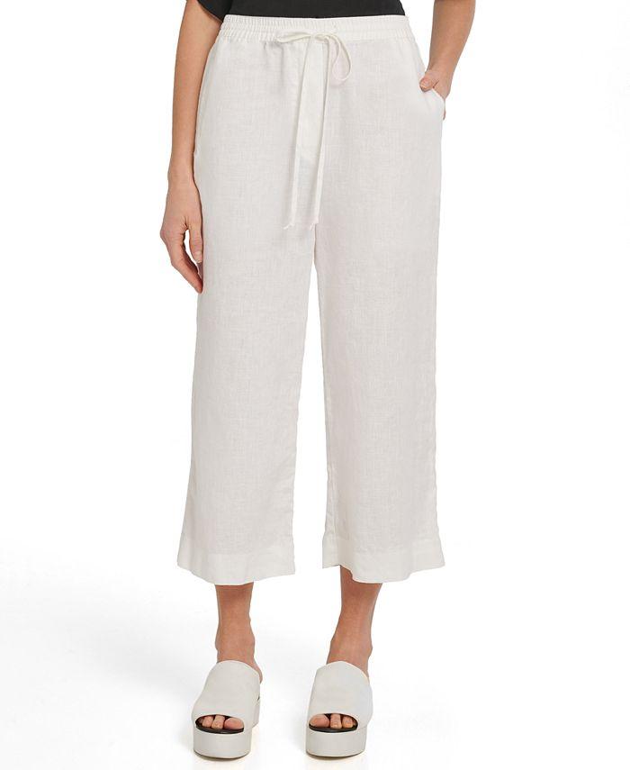 DKNY - Linen Wide-Leg Pants