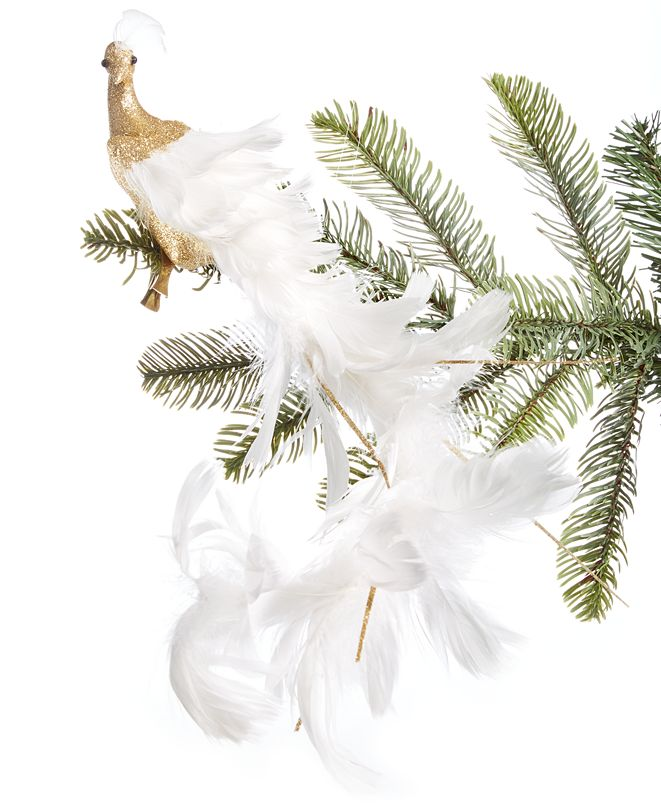 Holiday Lane Shine Bright Bird with Feather Ornament, Created for Macy's