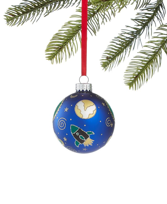 Holiday Lane - Spaced Out Glass Ball Ornament