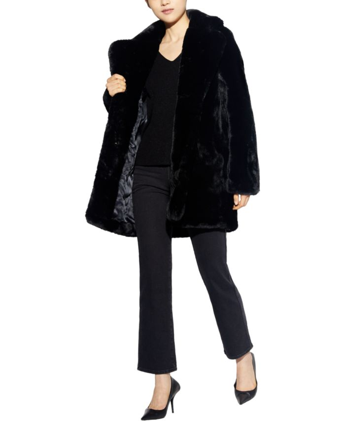 Apparis Eloise Faux-Fur Coat, Created for Macy's & Reviews - Coats - Women - Macy's