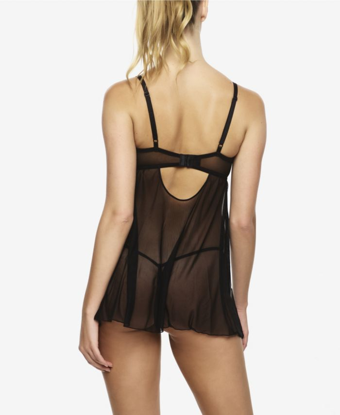 Jezebel Women's Willow Mesh and Lace Flyaway Babydoll with G-String & Reviews - Bras, Panties & Lingerie - Women - Macy's