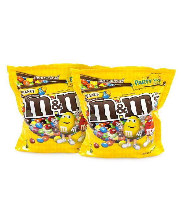 M&M's Sup Party Bag Peanut, 38 oz, 2 Pack