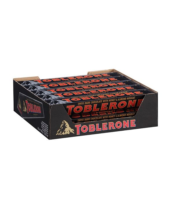 Toblerone Dark Chocolate Bar, 3.5 oz, 20 Count