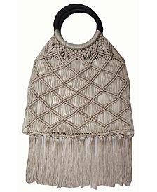 INC Miyya Fringe Woven Bangle Bag, Created for Macy's