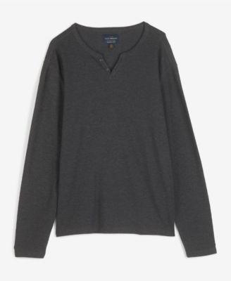 Notch Grey Men/'s NEW MED $39.50 Lucky Brand Black Mountain Slub Burnout Shirt