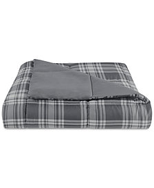 LAST ACT! Essentials by Martha Stewart Collection Reversible Plaid Full/Queen Comforter, Created for Macy's