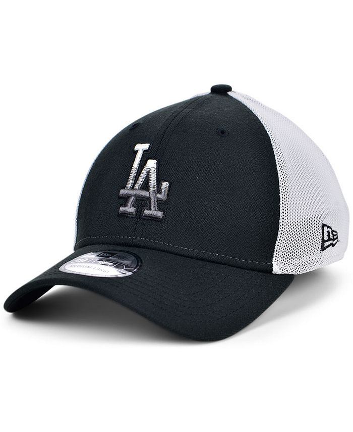 New Era - Men's Los Angeles Dodgers Black White Gradient Trucker 39THIRTY Cap