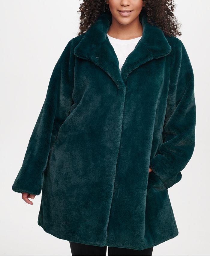 Calvin Klein - Plus Size Faux-Fur Coat