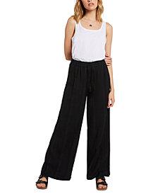 Volcom Juniors' Sun Spent Cotton Wide-Leg Pants