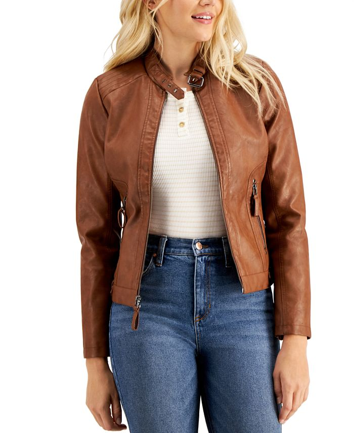 Maralyn & Me - Juniors' Faux-Leather Jacket