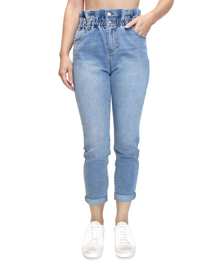 Almost Famous - Juniors' Paperbag-Waist Skinny Jeans
