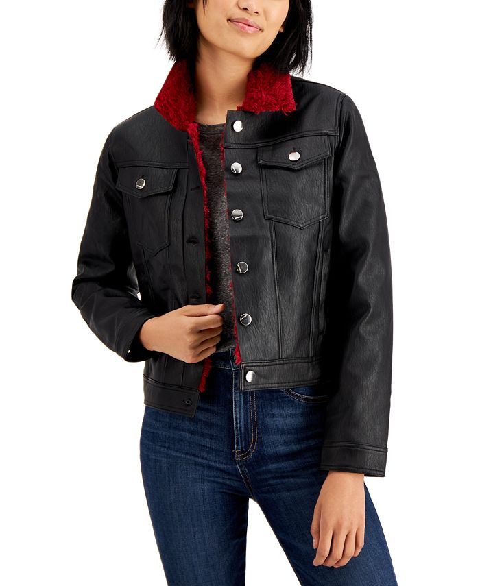 Jou Jou - Juniors' Faux-Shearling Jacket