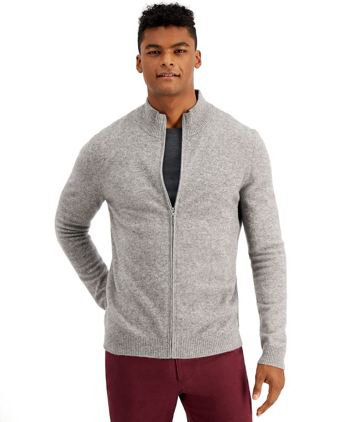 Tasso Elba - Men's Full-Zip Cashmere Sweater