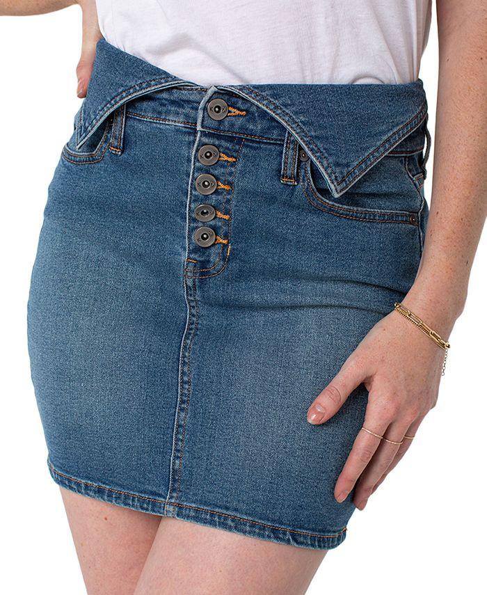 Kendall + Kylie - Juniors' Belted Jean Skirt