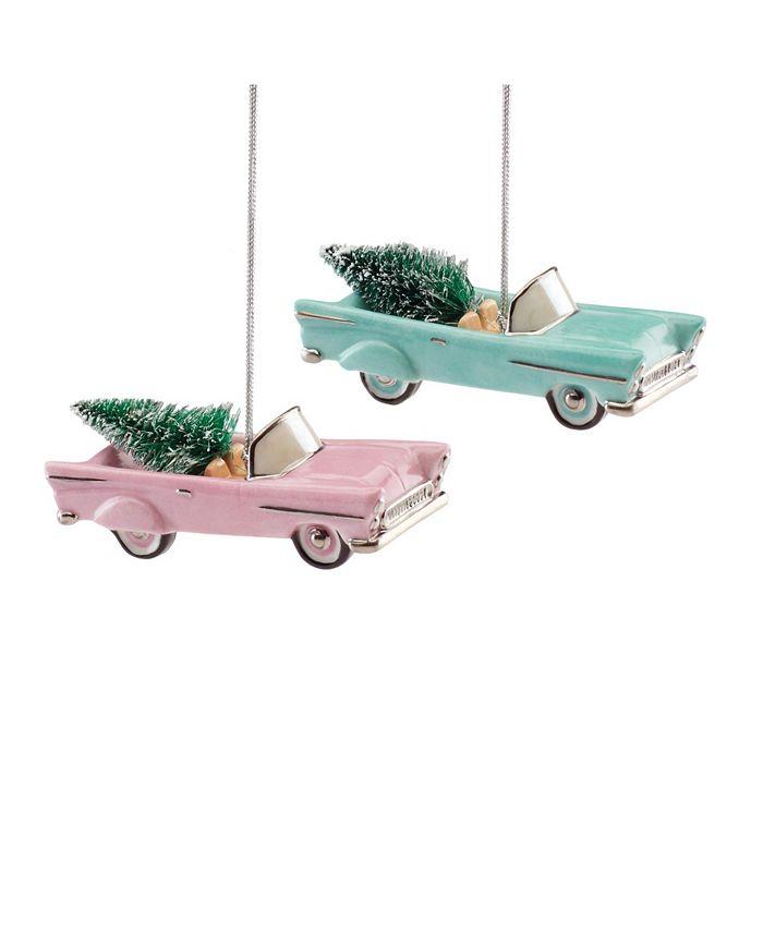 Lenox - Retro Car 2-Piece Ornament Set
