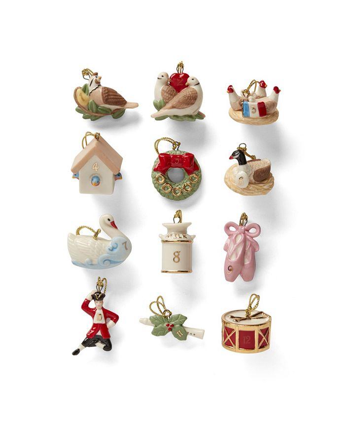 Lenox - Twelve Days of Christmas 12-Piece Ornament Set