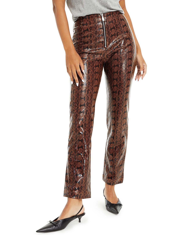 Danielle Bernstein Faux-Snakeskin Pants, Created for Macy's